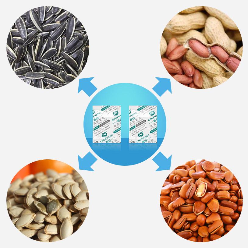 脱氧剂应用于坚果炒货